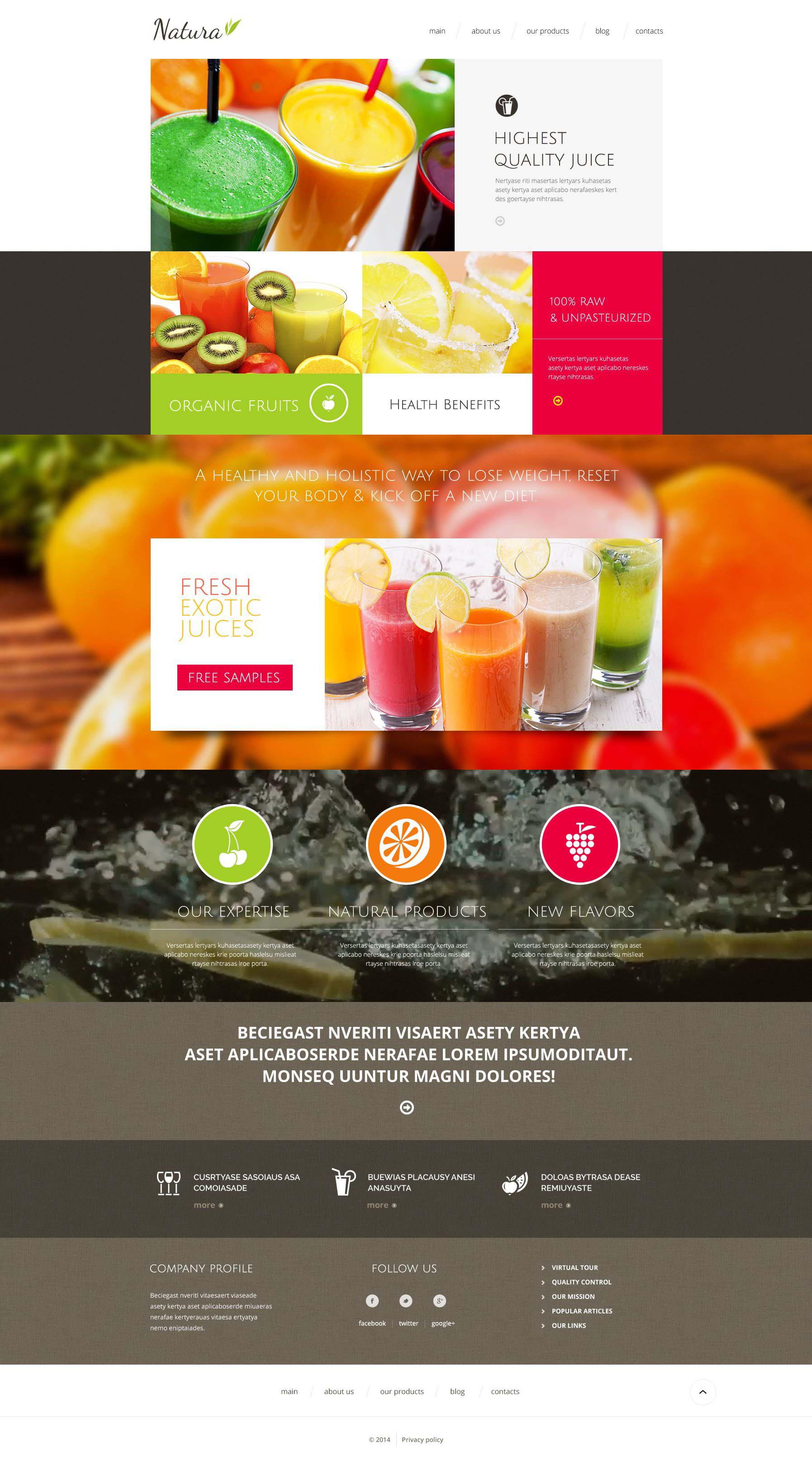 Healthy  Tasty Drink Drupal Template - screenshot