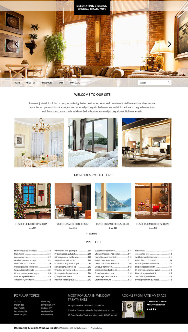 Home Decor Responsive Website Template New Screenshots BIG