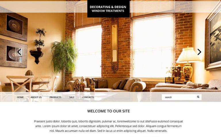 Home Decor Responsive Website Template