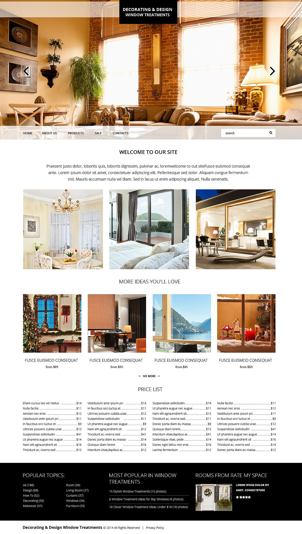 Home Decor Responsive Website Template New Screenshots BIG