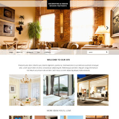 Home Decor Bootstrap Website
