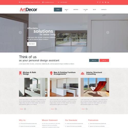 Art D�cor - WordPress Template based on Bootstrap