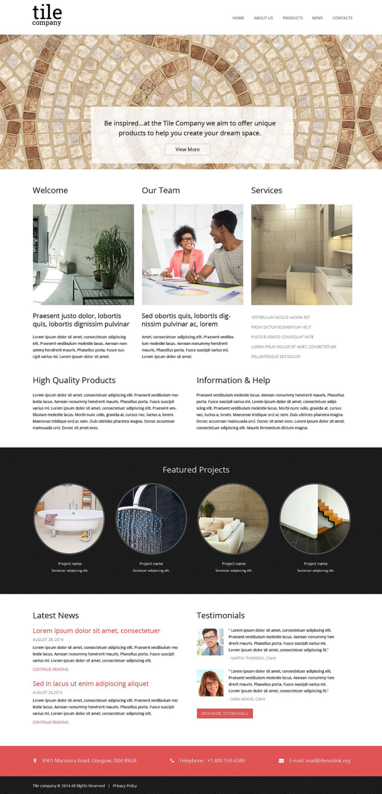 Interior Design Responsive Website Template New Screenshots BIG