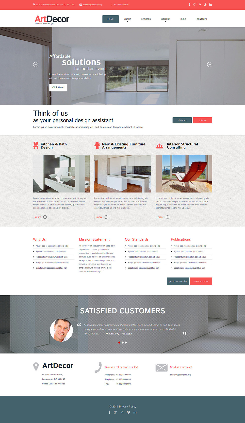 Interior Design Responsive WordPress Theme New Screenshots BIG