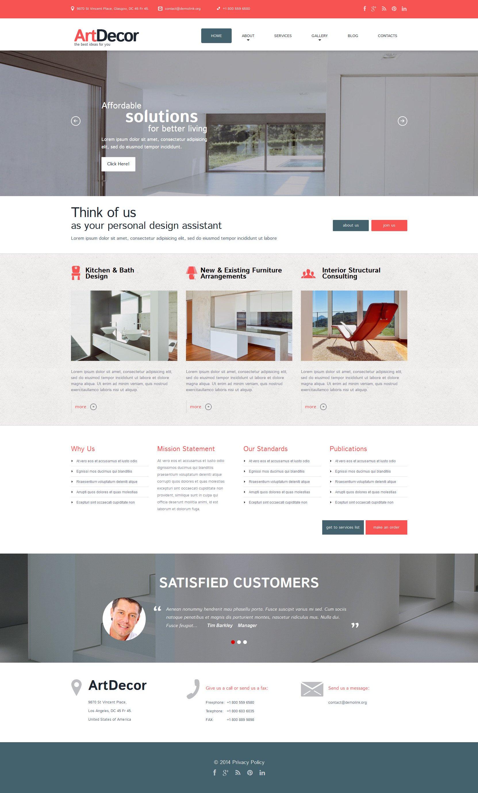 Interior Design Responsive WordPress Theme - screenshot