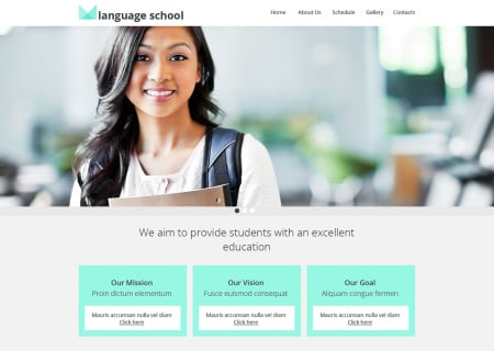 Language School Responsive