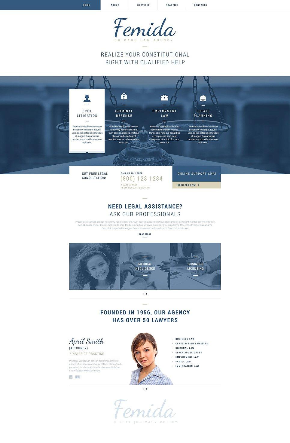 law firm responsive website template 51827. Black Bedroom Furniture Sets. Home Design Ideas