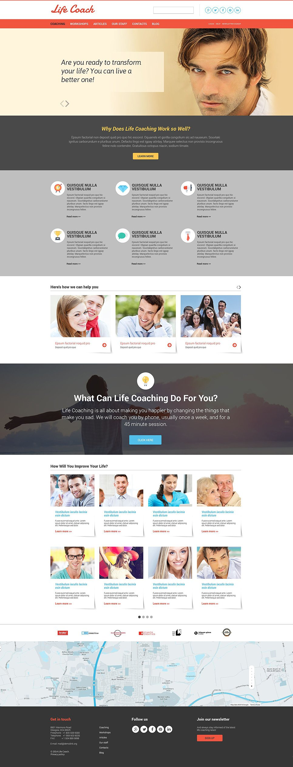 Life coach responsive website template 51896 pronofoot35fo Gallery