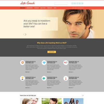 Life Coach Responsive Website Template #51896