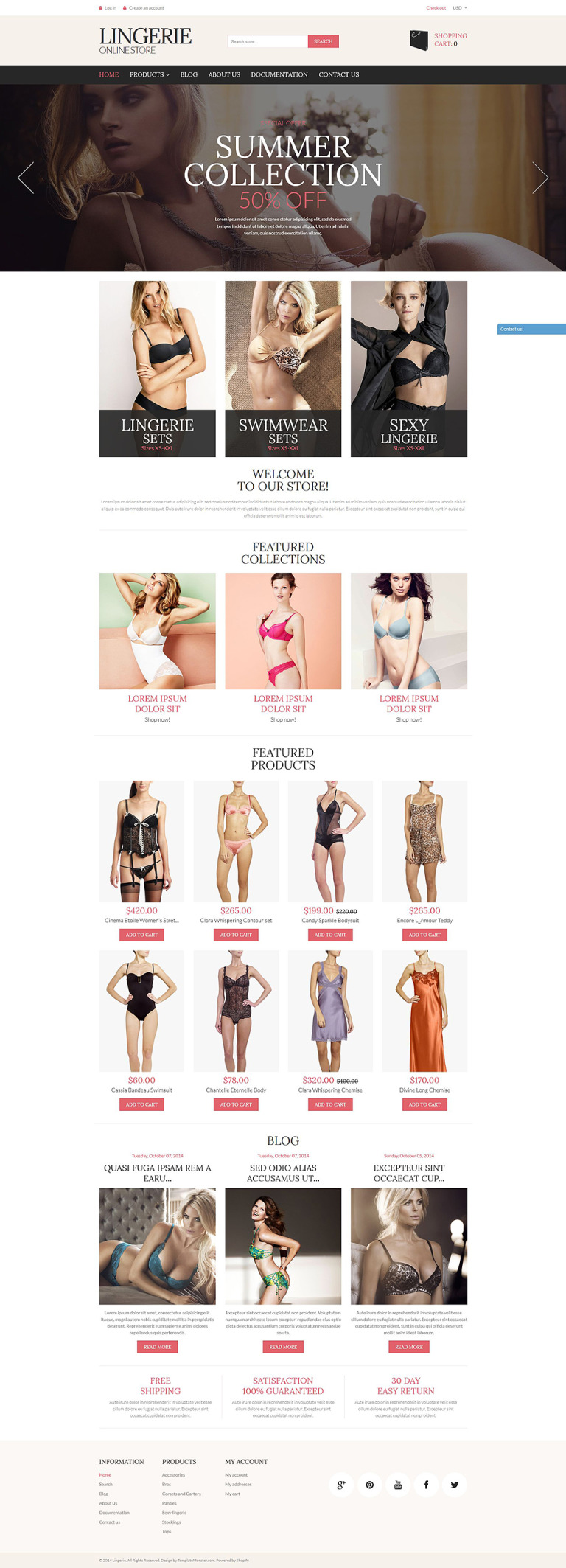 Lingerie Store Shopify Theme New Screenshots BIG