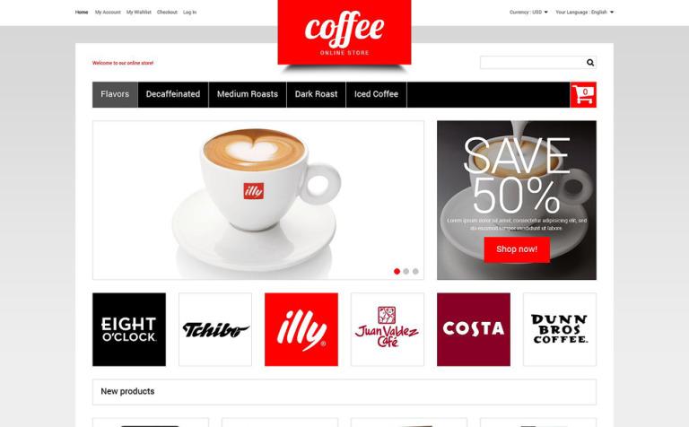Magento Theme #51849 für Kaffeeshop
