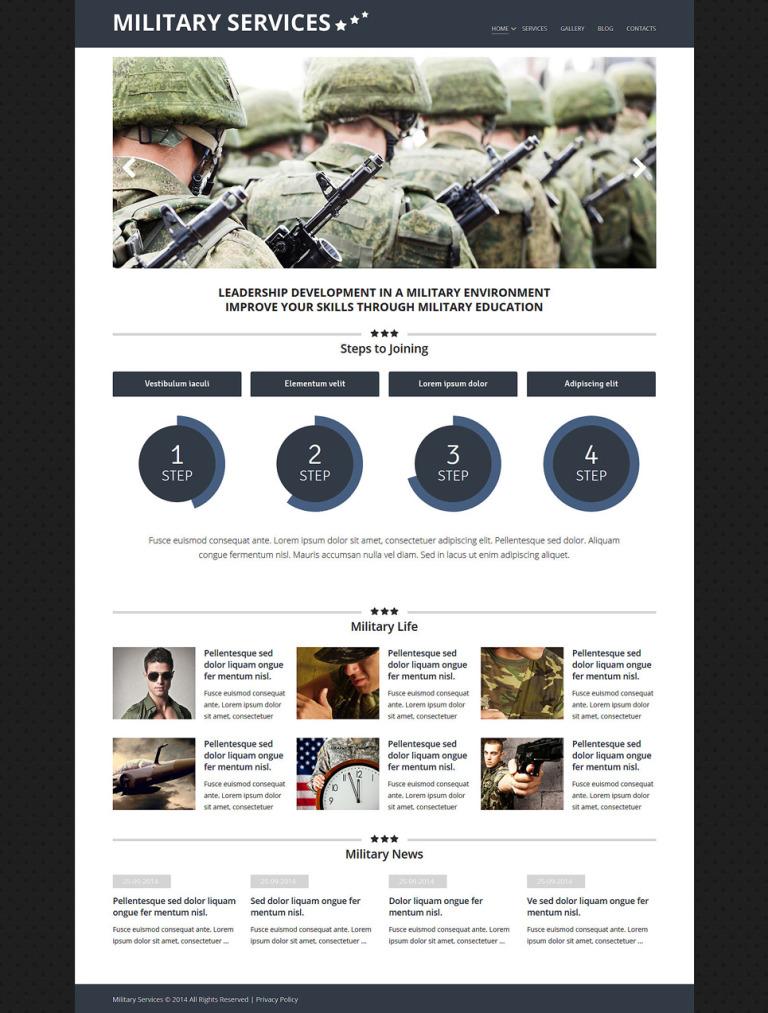 Military Environment Joomla Template New Screenshots BIG