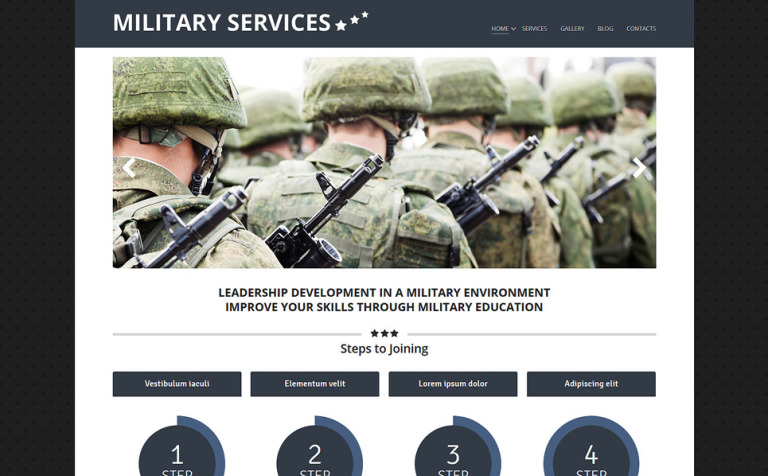 Military Environment Joomla Template