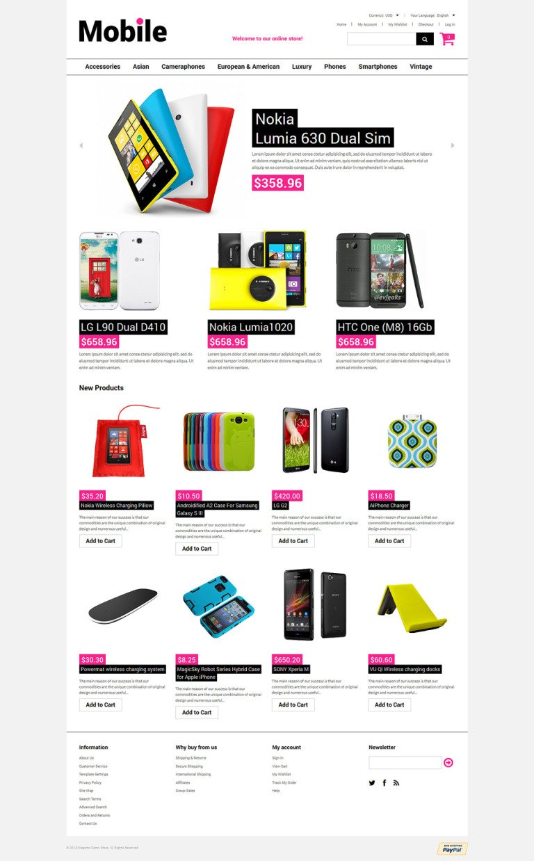 Mobile Stuff Magento Theme New Screenshots BIG