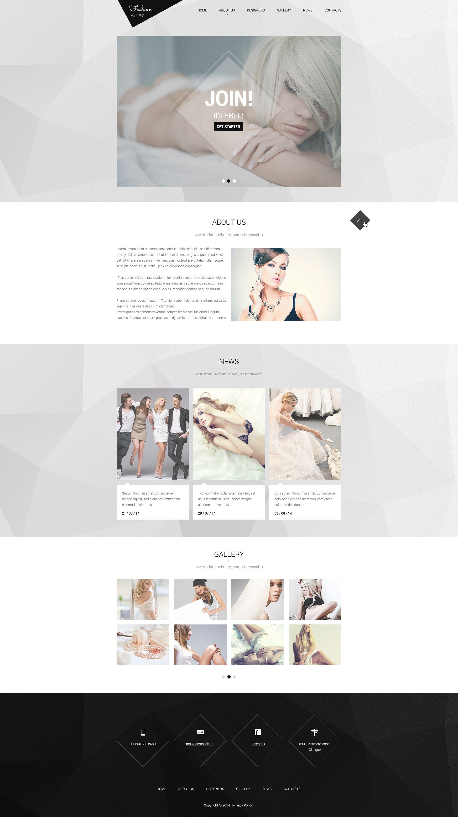 Modèle Web adaptatif pour agence de mannequins #51854