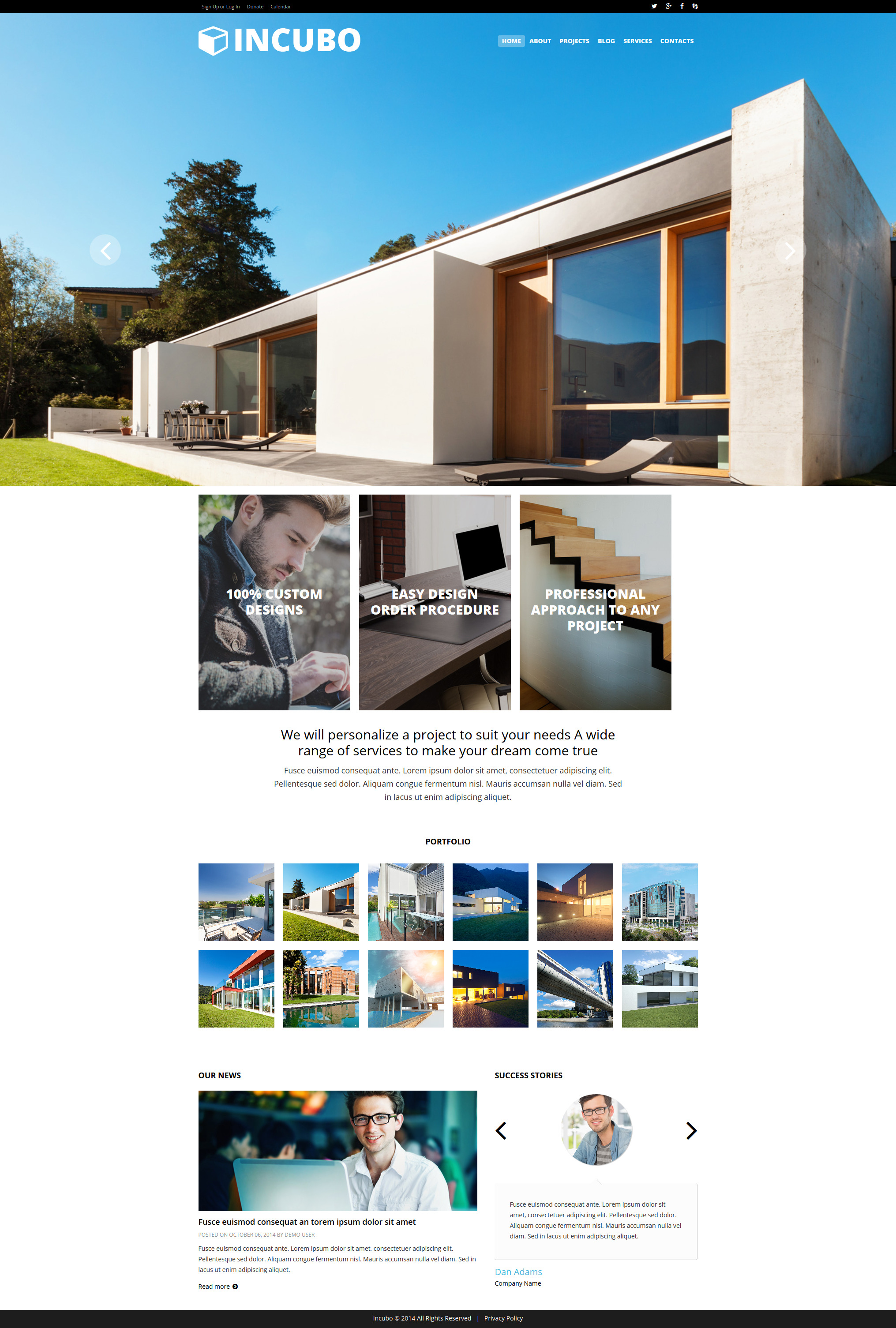 Modern design board joomla template 51844 for Architectural websites