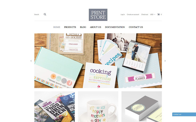 Modern Print Solutions Shopify Theme - Shopify product template