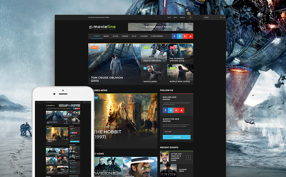 MovieLine - Online Cinema WordPress Theme New Screenshots BIG