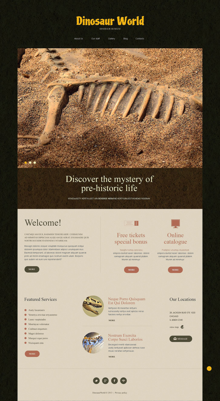 Museum Responsive Joomla Template New Screenshots BIG