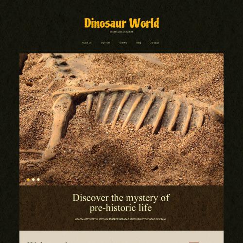 Dinosaur World - Joomla! Template based on Bootstrap