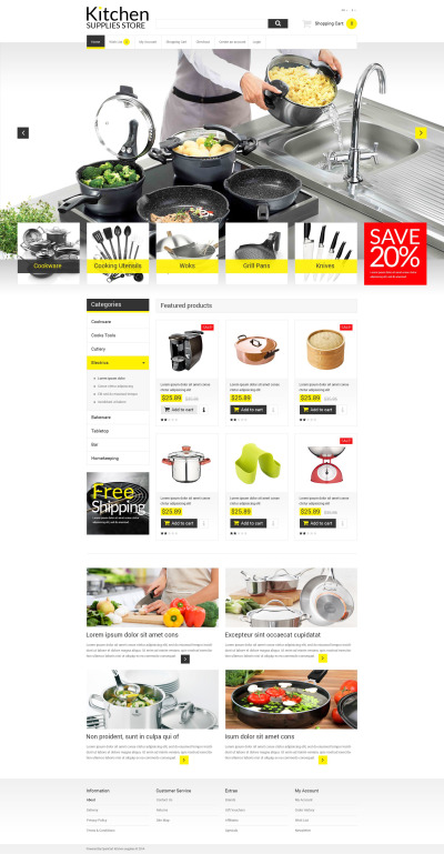Online Kitchen Warehouse OpenCart Template