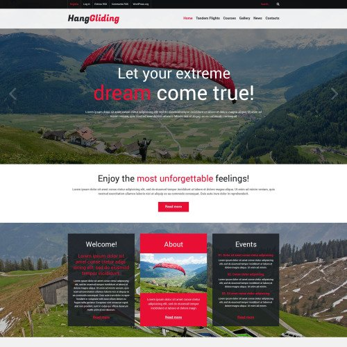 Hanggliding - WordPress Template based on Bootstrap