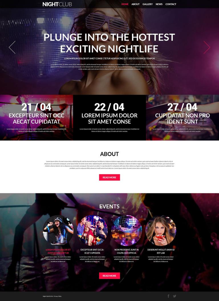 Party Animals Nightclub Joomla Template New Screenshots BIG