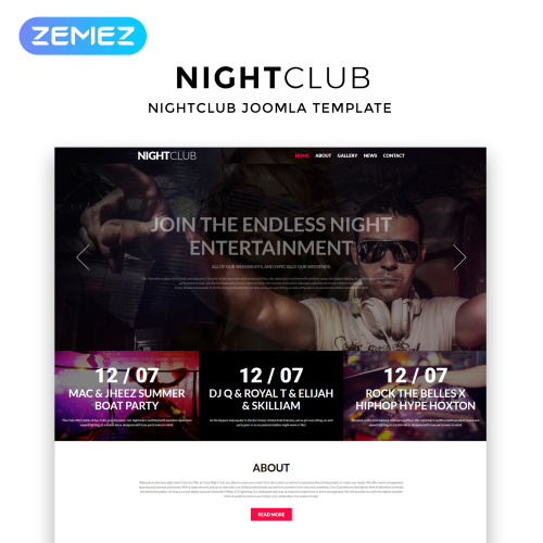 Night Club - Joomla! Template based on Bootstrap