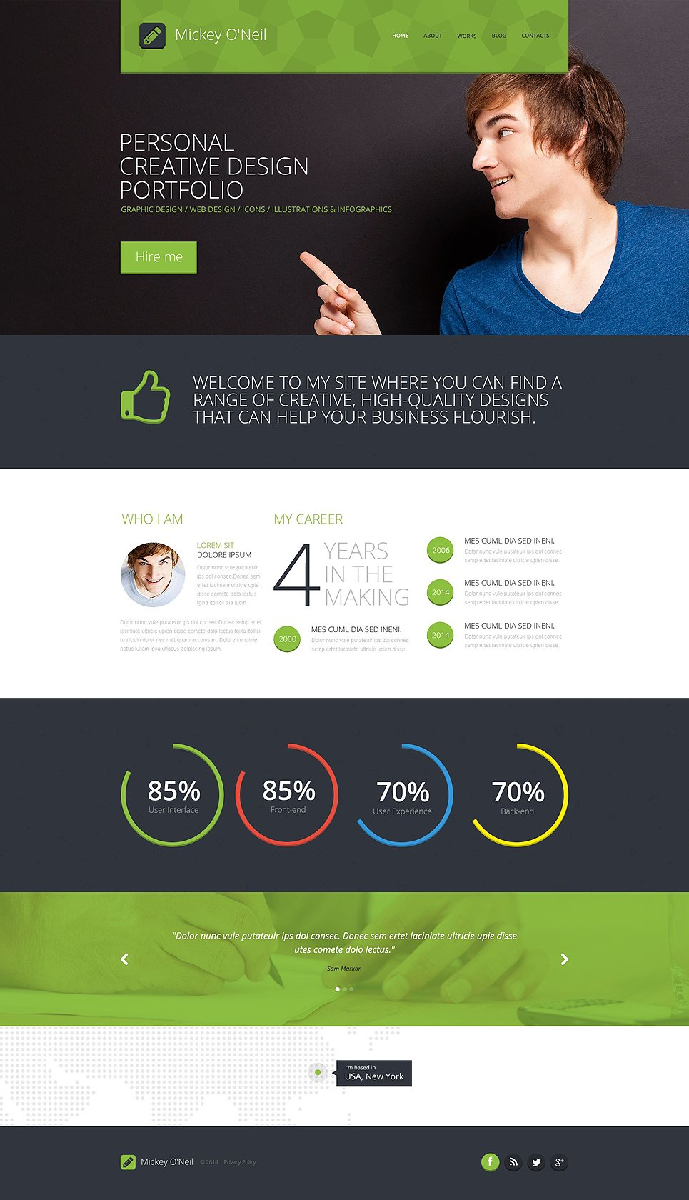 Personal Page Responsive Website Template  51852
