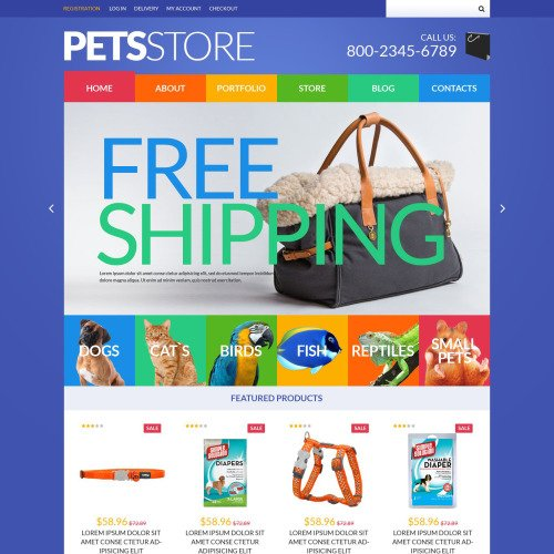 Pets Store - WooCommerce Template based on Bootstrap