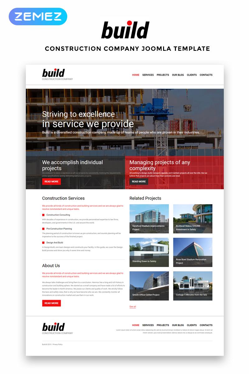 Plantilla joomla 51888 para sitio de empresas de construcci n for Empresas de construccion
