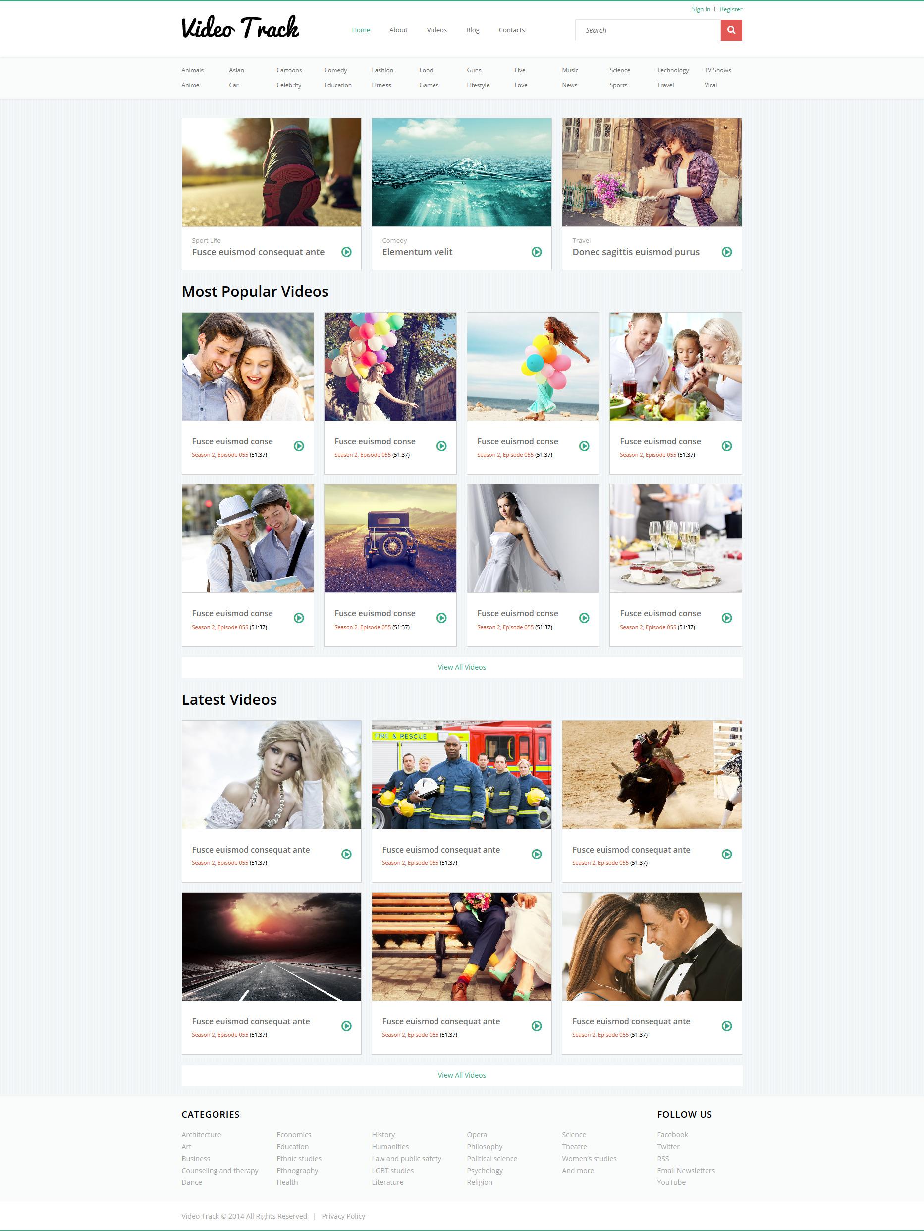 Plantilla Joomla #51802 para Sitio de Galerías de vídeos