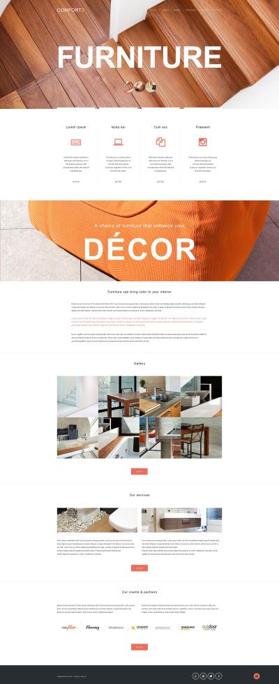 Plantilla Muse #51855 para Sitio de  para Sitio de Diseño interior
