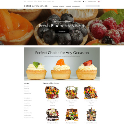 Plantilla ZenCart #51879 para Sitio de  para Tienda de Regalos