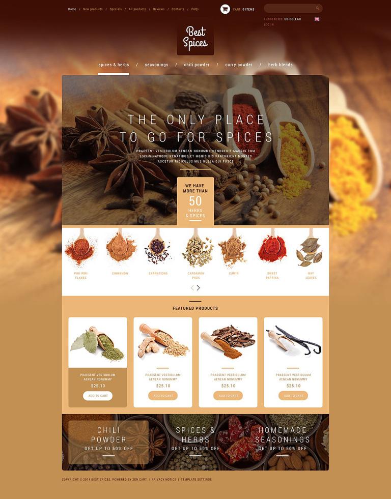 Refined Spices Herbs ZenCart Template New Screenshots BIG