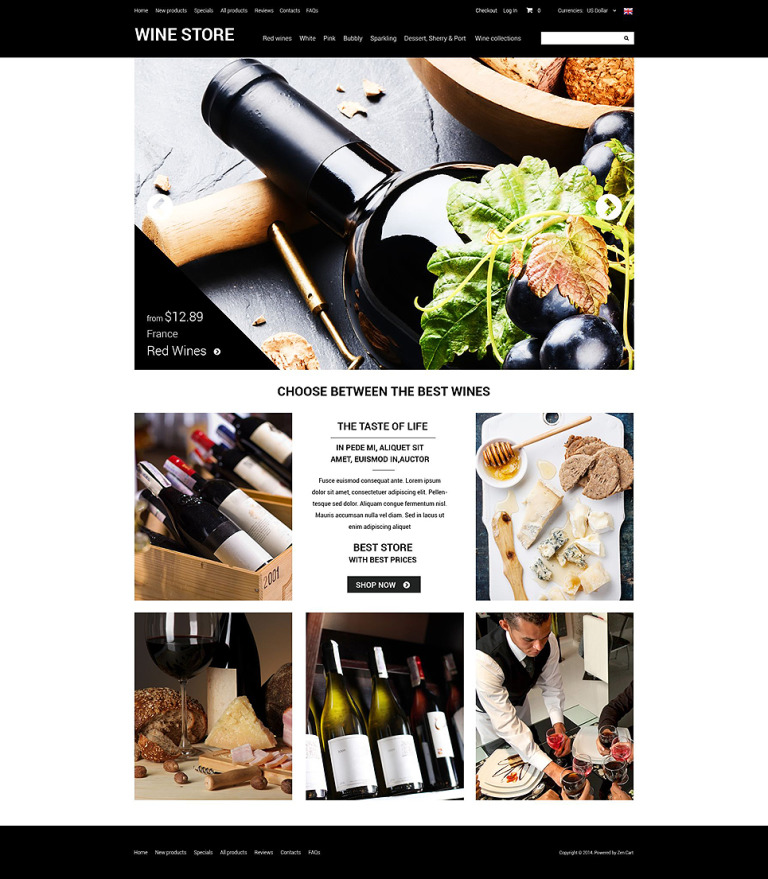 Refined Wine ZenCart Template New Screenshots BIG