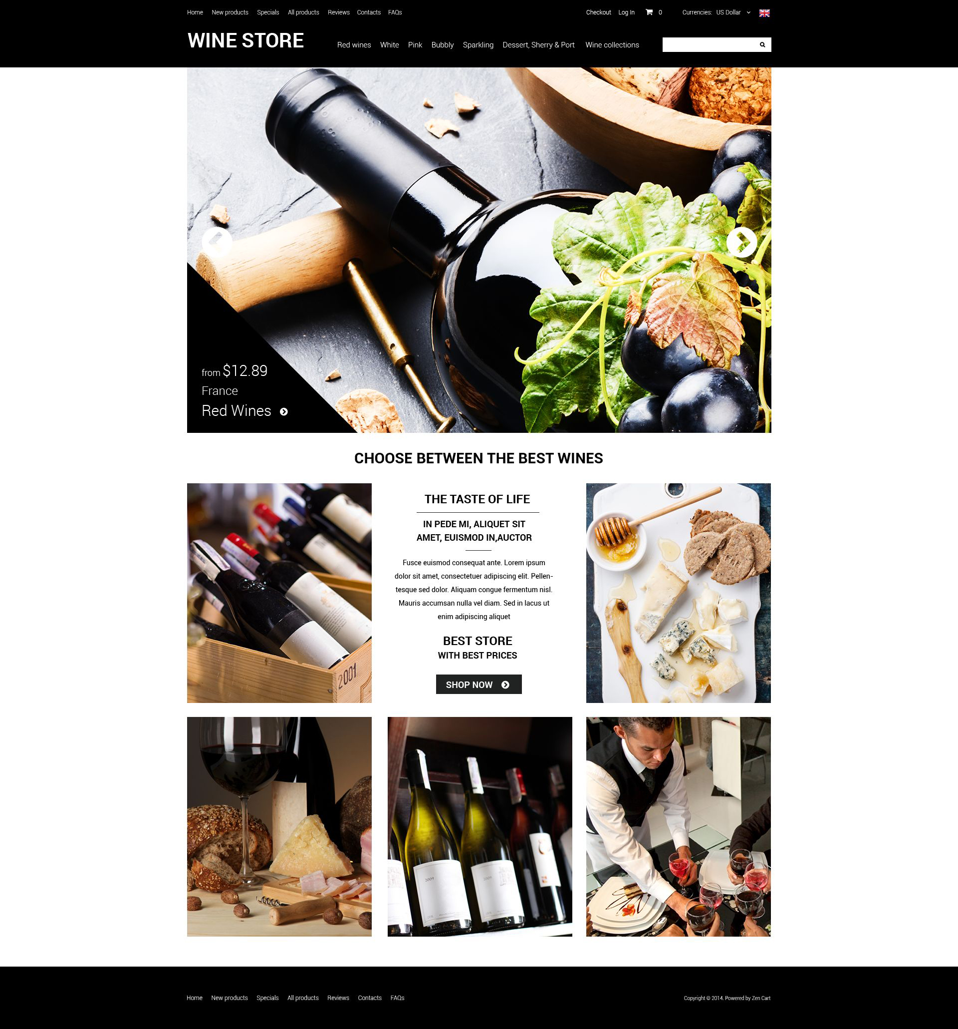 Refined Wine ZenCart Template