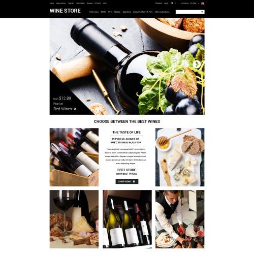 Wine Store - HTML5 ZenCart Template