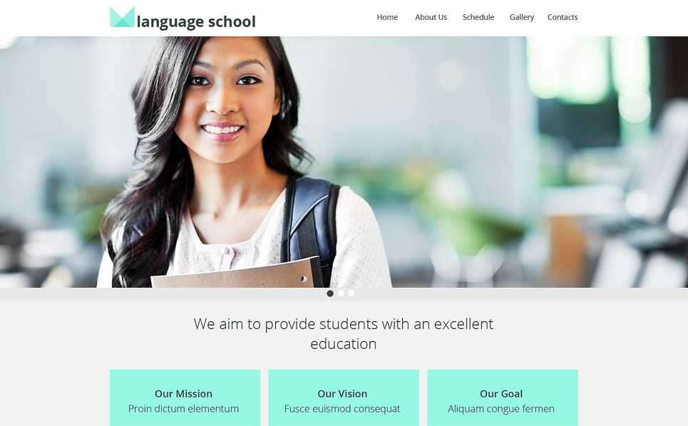 Responsive Dil Kursu  Web Sitesi Şablonu New Screenshots BIG