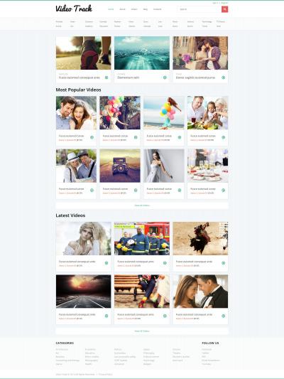Video Gallery Responsive Joomla Template