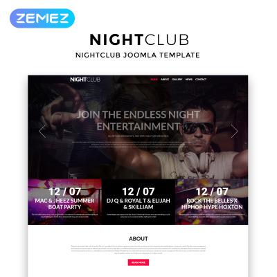 Night Club Responsive Joomla Şablonu