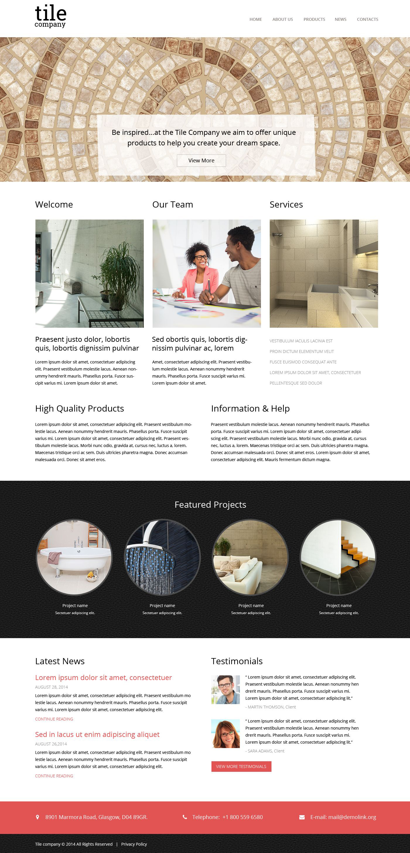 Responsive Website template over Interieur-design №51856 - screenshot
