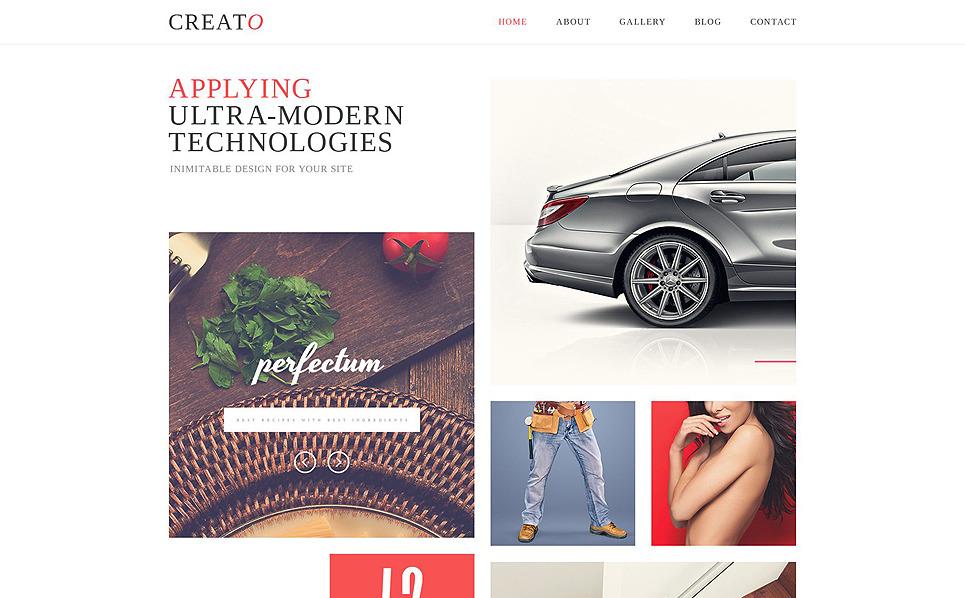 Responsive Website Vorlage für Designstudio  New Screenshots BIG