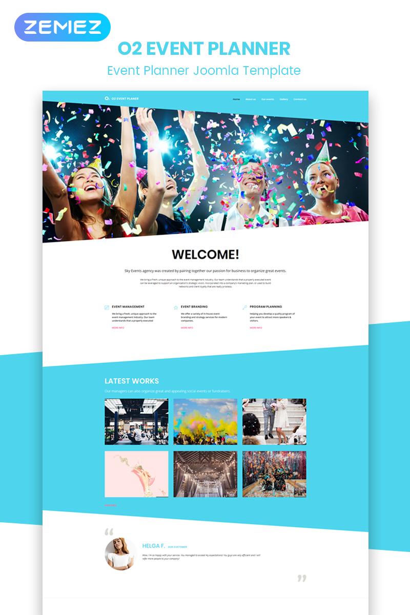 Responsivt O2 - Event Planner Modern Joomla-mall #51847