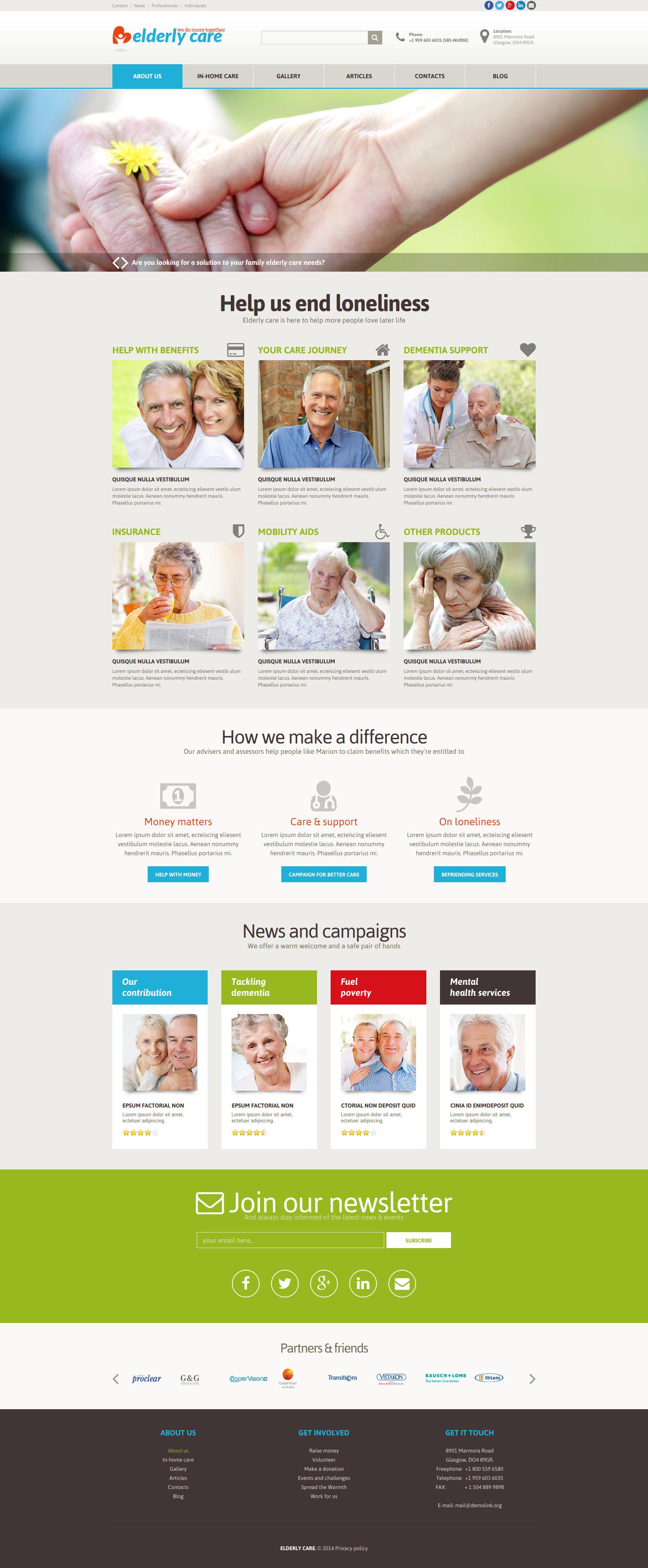 Responsywny szablon Joomla Elderly Care #51801