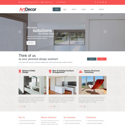 Interior Design Responsive WordPress Sablon