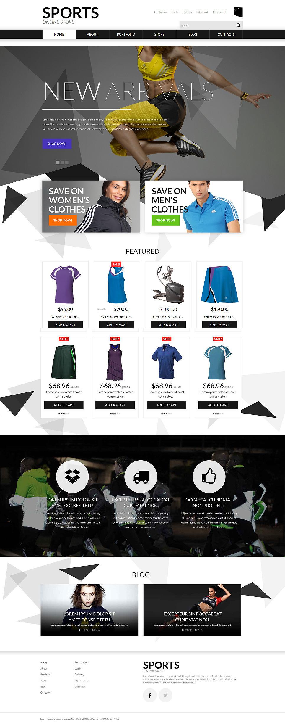 Sports Apparel WooCommerce Theme New Screenshots BIG