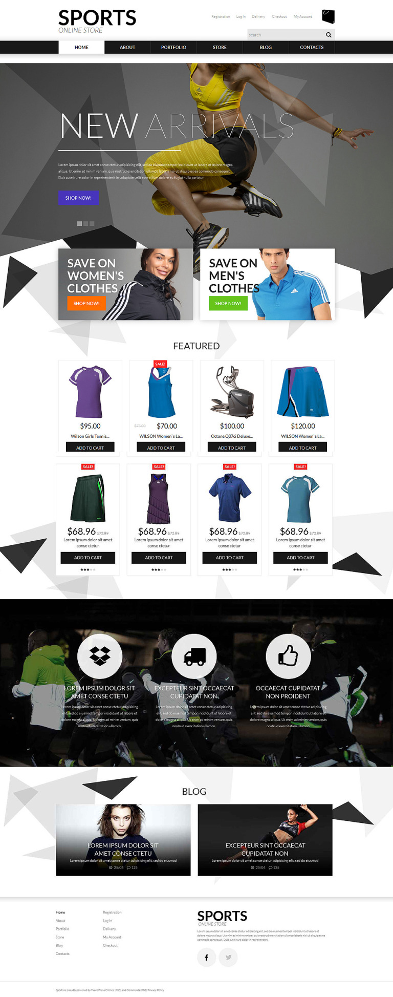 Sports Apparel WooCommerce Theme New Screenshots BIG