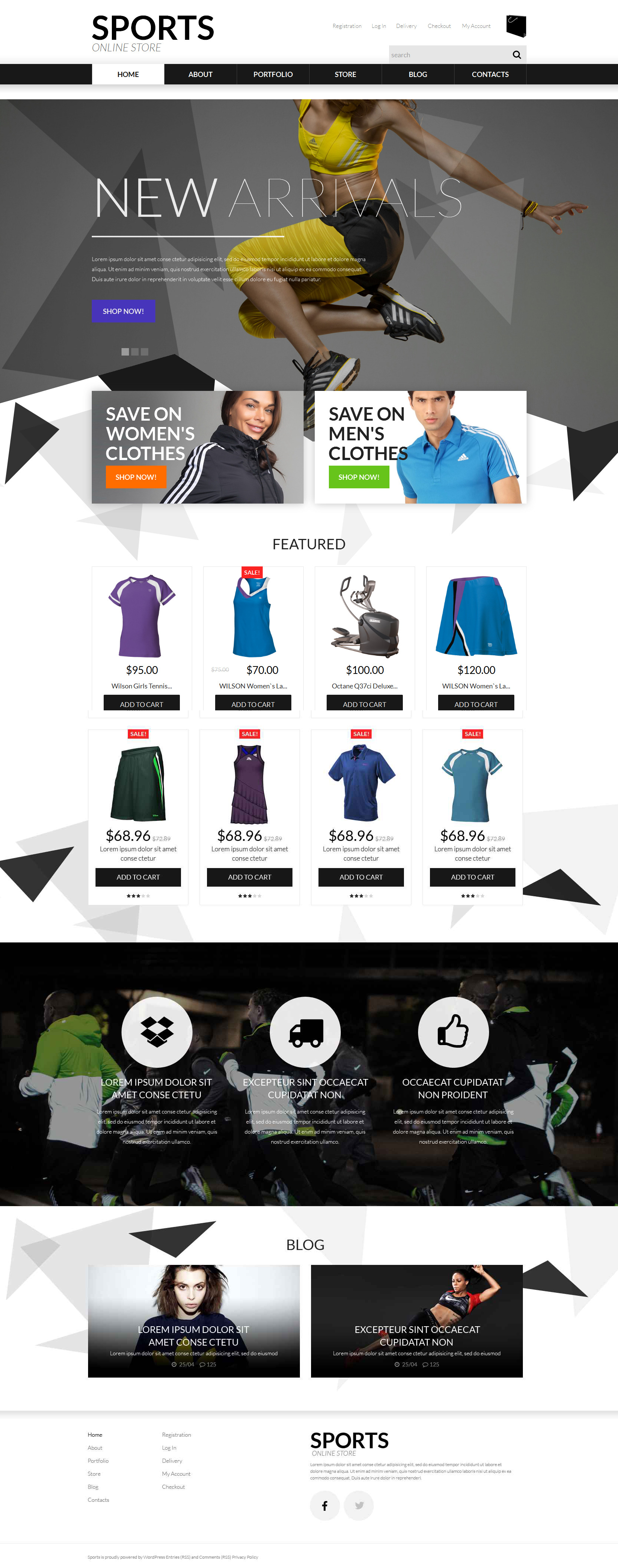 Sports Apparel WooCommerce Theme - screenshot