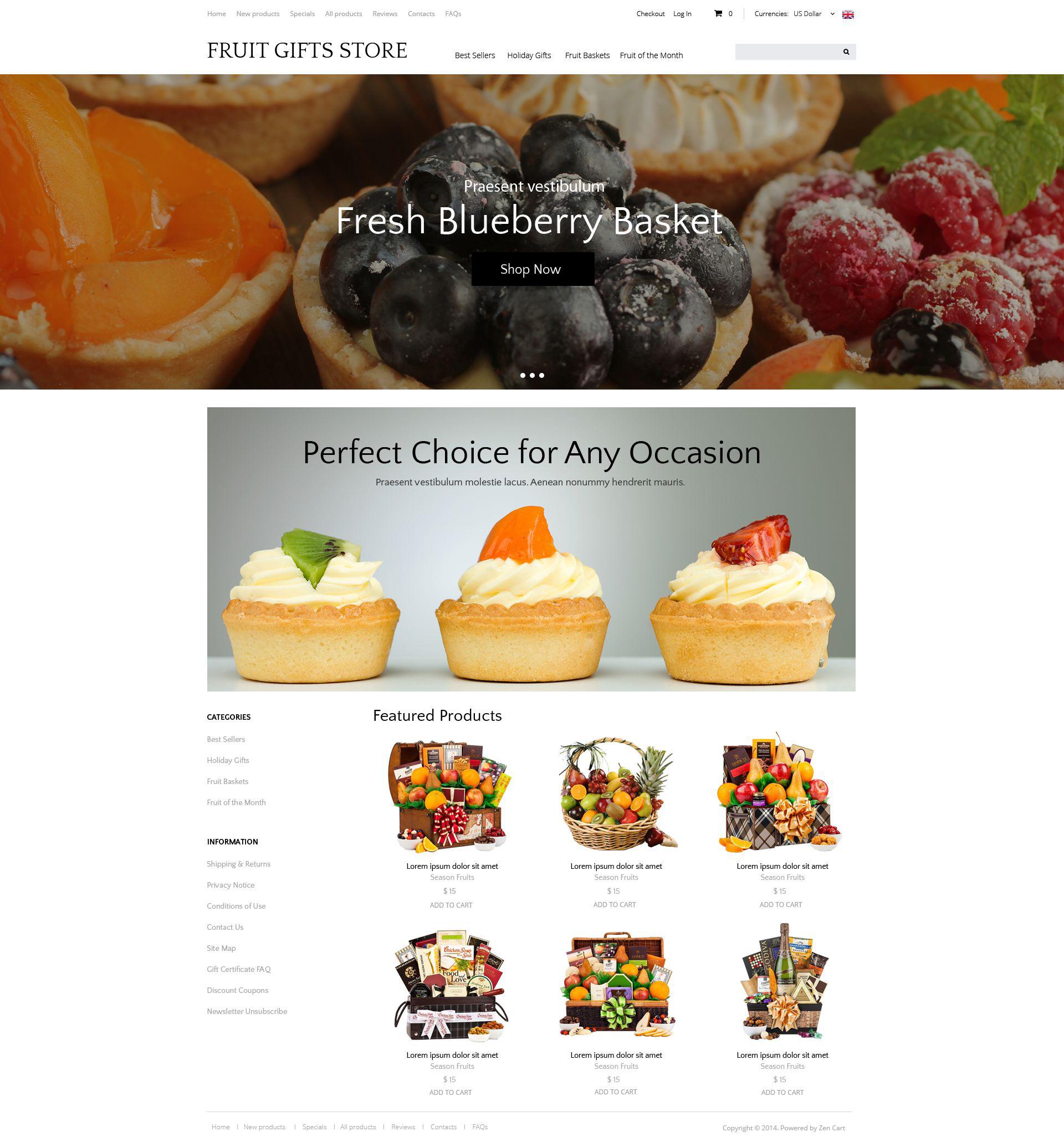 Szablon ZenCart Delicious Gifts #51879 - zrzut ekranu
